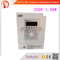 CNC Spindle Motor Speed Control 1.5KW 2HP 7A 1000Hz 1PH Single Phase AC220V VFD Inverter for Printing Press