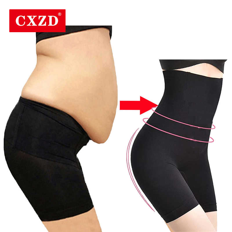여성을위한 CXZD Shapewear Tummy Control Shorts 하이 웨이스트 팬티 Mid Thigh Body Shaper Bodysuit Shaping Lady