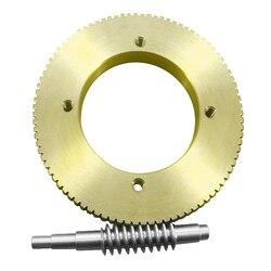 Engrenagem de aço inoxidável do worm do bronze da lata do sem-fim 1: relação de redução 90 grande engrenagem da relação da redução