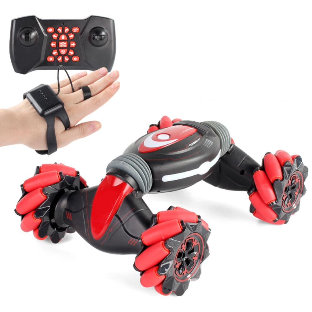 RC Remote Control Stunt Car Gesture Induction Twisting Off-Road Vehicle Light Music Drift Dancing Side Driving Toy Gift For Kids