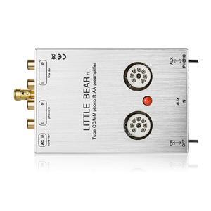 Image 5 - Küçük ayı T7 vana 6J1 tüp fono sahne RIAA MM fonograf preamplifikatör Stereo pre amp (gümüş) ücretsiz kargo