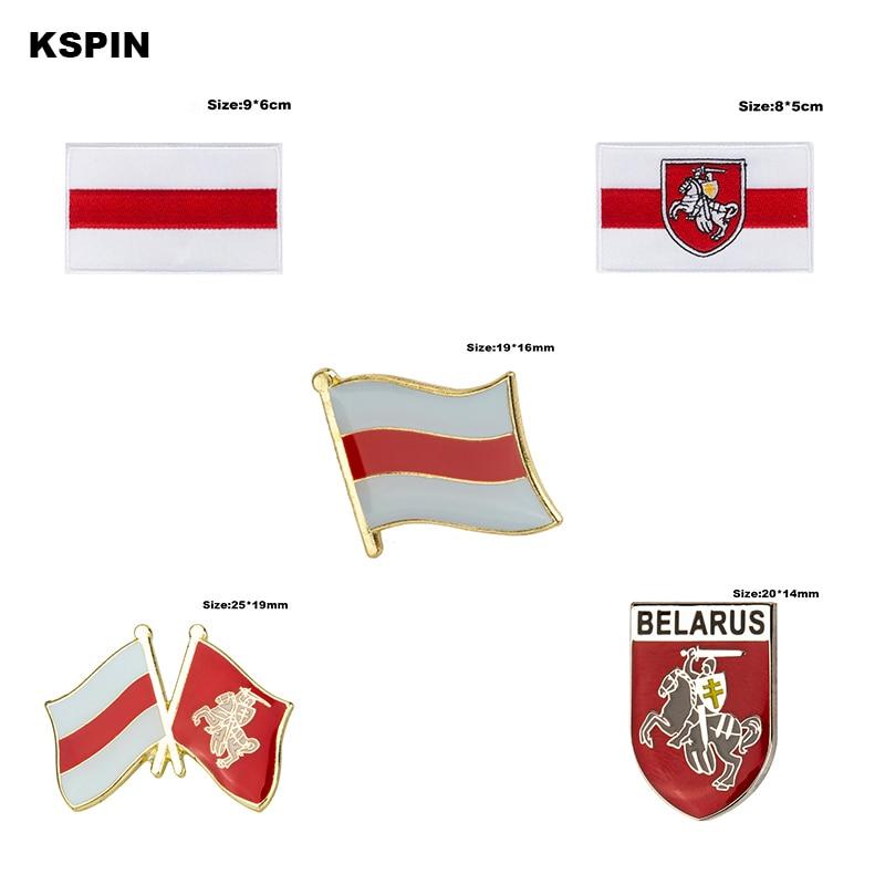 Belarus bandeira pino lapela pino emblema broche ícones 1pc KS-0031