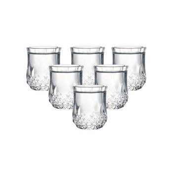 Set of 6 heavy base machine made shot glasses lead free glass liquor glasses for vodka spirit drinks 50ml