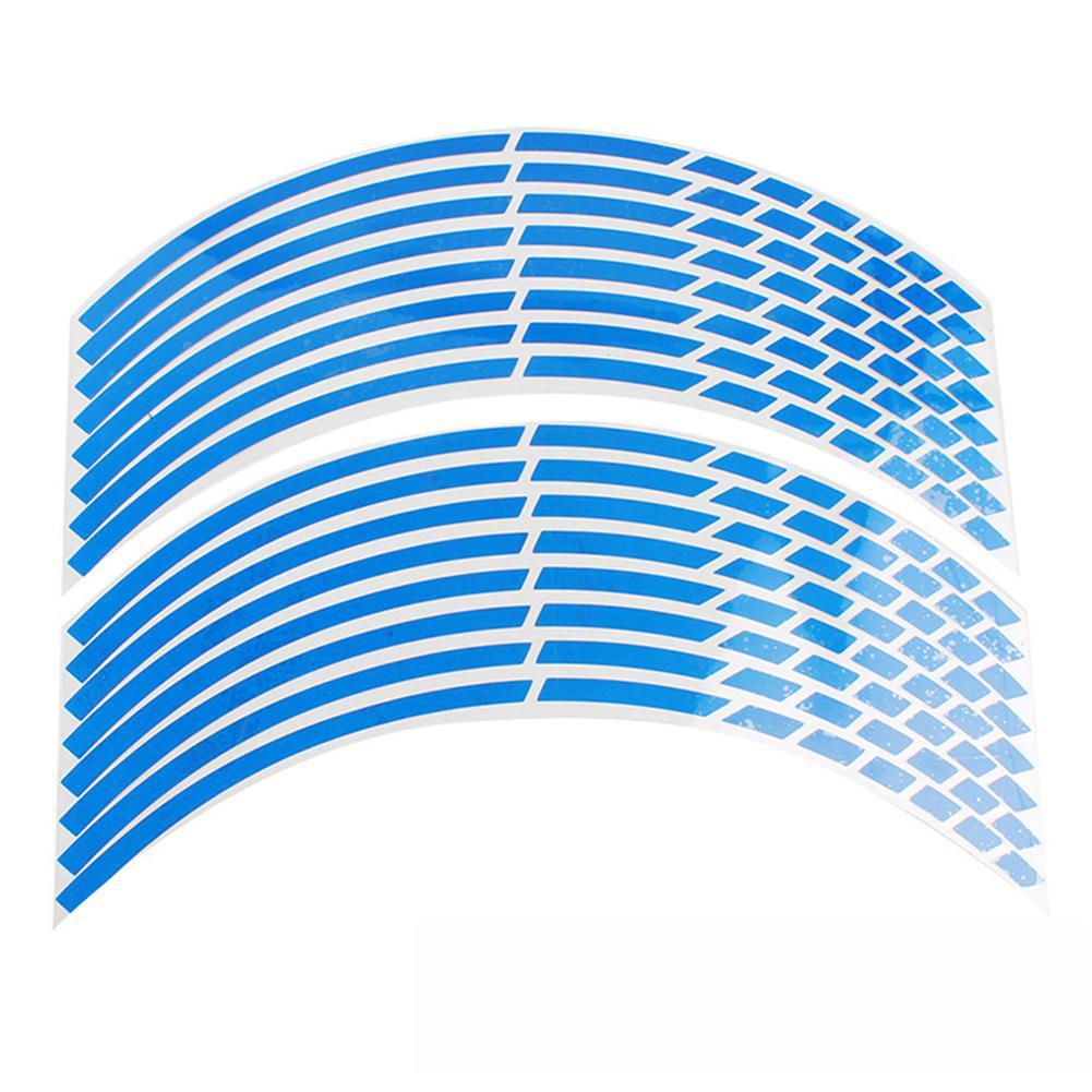 "Image 3 - 17""18"" 16pcs Motorcycle Car Wheel Tire Stickers Reflective Rim Tape Motorbike Auto Reflective Sticker"
