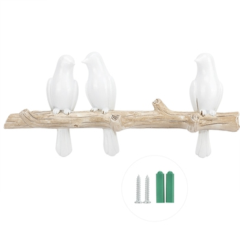 Bird Shape Home Decoration Hat Clothes Bag Wall Mount Hook Hanger Rack Holder Storage Rack Bedroom Decoration Tool