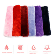 Adults Kids Car Interior Accessories Fluffy Car Auto Seat Belt Cover Plush Safety Belt