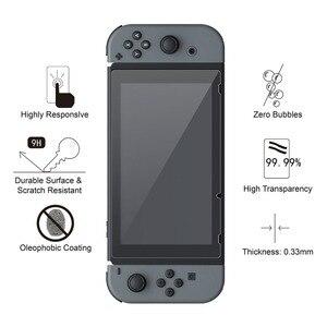 Image 2 - IVYUEEN Protector de pantalla de vidrio templado 9H Premium para Nintendo Switch NS, película protectora para Nintendo Switch, 2 uds.