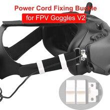 עבור DJI FPV משקפי V2 מיני כבל חשמל תיקון אבזם כבל נתונים אחסון ניהול קו אנטי להפסד נייד Drone אבזרים