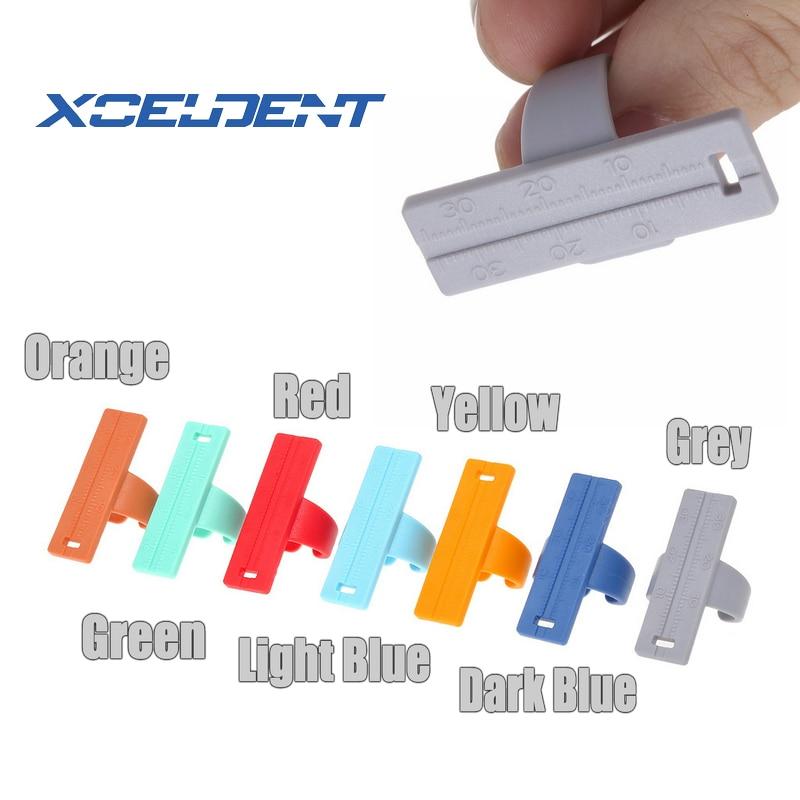 1Pc Dental Colorful Endo Finger Rulers Span Measure Scale Endodontic Finger Ruler Measurement Scale Gauge Dentist Tool