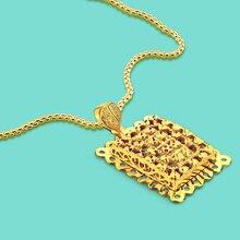 Joyería de lujo collar de oro de las mujeres 925 superficie de plata COLLAR COLGANTE de oro Bohemia accesorios caja patrón cadena 56-86cm-tamaño