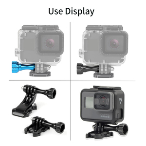 Image 5 - SHOOT 4Pcs Long CNC Aluminum Alloy Screw Mount for GoPro Hero 9 8 7 5 Black Dji Sjcam Xiaomi Yi 4K Eken Action Camera Accessory