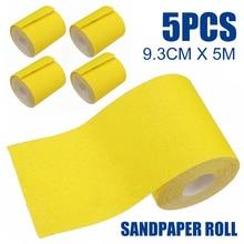 5 Rolls Aluminium Oxide Schuren Roll Grit 40 60 80 120 180 Schuurpapier Zand Houtwerk Metaalbewerking Slijptol