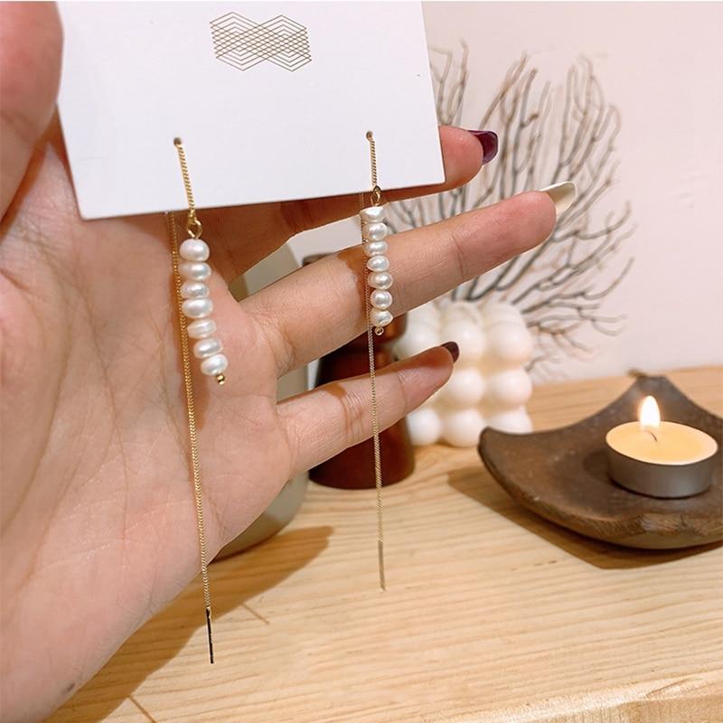 Купить женские длинные серьги кисточки mengjiqiao японские и корейские