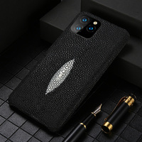 Genuine Pearl Gourami Leather Phone Case for Apple iPhone 11 11 Pro 11 Pro Max X XS XR 7 Plus XS MAX 8 Plus 6 6S 5 5s se cover