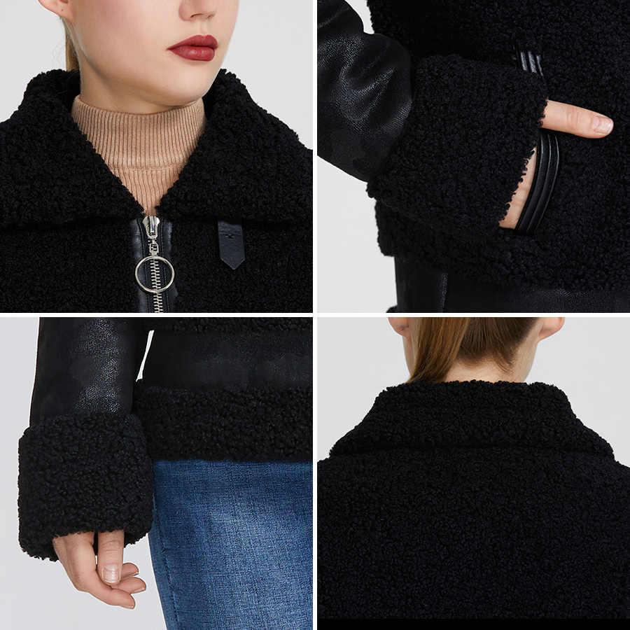 MIEGOFCE 2020 Neue Winter Frauen Sammlung Faux Pelz Jacke Frauen Mantel Winter Schaffell Parka Winddicht Beständig Kragen Mit Pelz