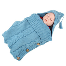 Gloriou Source Newborn Baby Winter Warm Sleeping Bags Infant Button Knit  Sleeping Bags