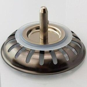 Кухонная Раковина пробка фильтра корзина фильтра для слива воды аксессуары для слива Высокое качество 304 Нержавеющая сталь Черный