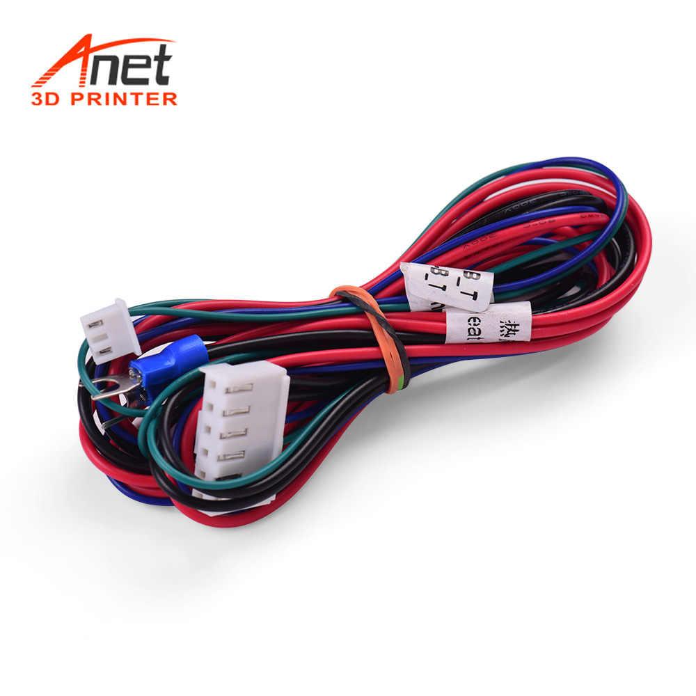 Anet 18AWG Upgrade Ranjang Hangat Kabel Hot Bed Line Heatbed Kawat Panjang 90 Cm/35.4 Inci untuk Anet Anet a8 A6 A2 A3 E12 E10