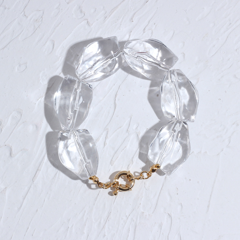 2020 summer fashion crystal bracelet men's trendy jewelry bangle Irregular transparent crystal handmade accessories for women