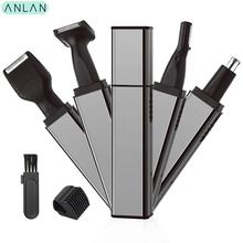 ANLAN Nose Hair Trimmer For Men Ear Face Eyebrow Removal Wireless Recharge Beard