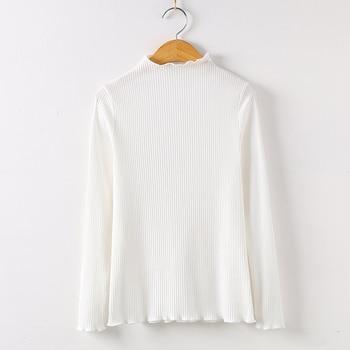 2019 Long Sleeve Shirt Mesh Top Poleras De Mujer Moda Women Shirt Women Cotton T-shirt Women Tops Casual Tee T Shirt 6268 50 - White, S