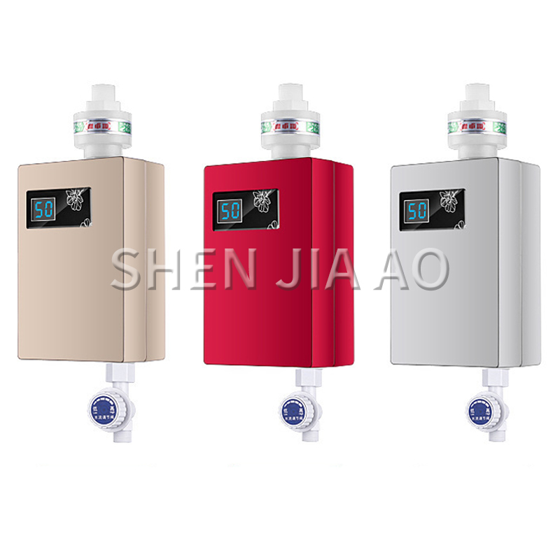 Household Instant Electric Water Heaters Kitchen Kitchen Small Water HeatersEnergy-saving Wall-mounted Mini Digital Display 220v