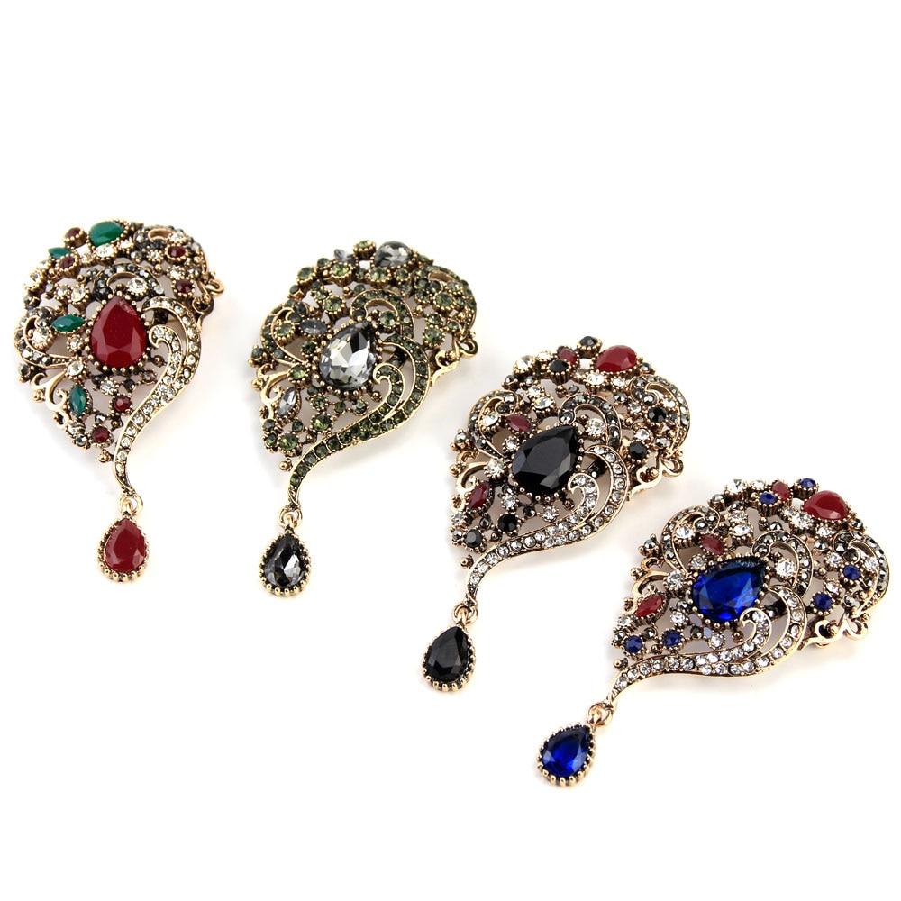Sunspicems Vintage Turecki Broszka Spadek Wisiorek dla Kobiet Retro - Modna biżuteria - Zdjęcie 2