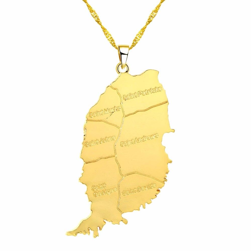 CHENHXUN CHENGXUN кулон Карта Африки ожерелье подарок золотой цвет длинная цепочка торговля Африканская Карта для мужчин и женщин модный подарок для ювелирных изделий - Окраска металла: 02