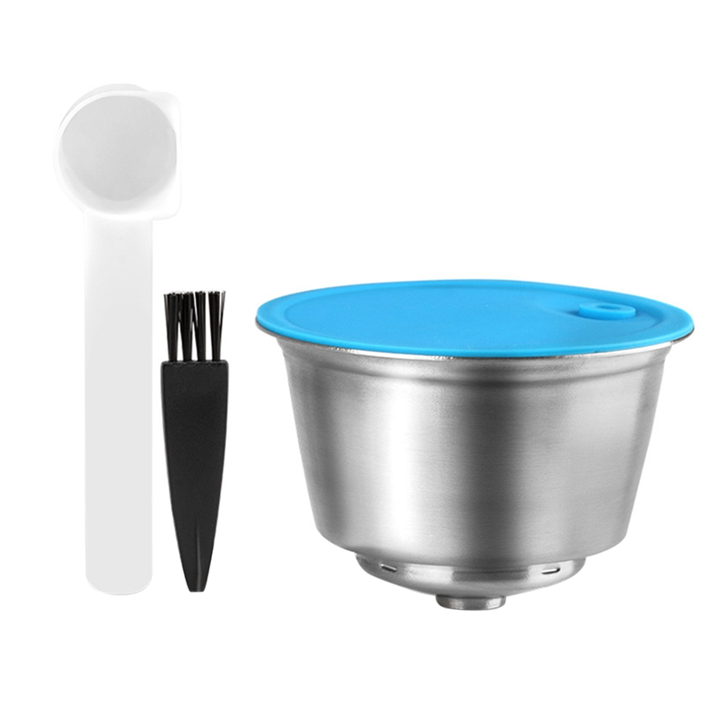 Reusable Capsula for Dolce-Gusto,Stainless Steel Coffee Filter for Nescafe/Dolce-Gusto Set (with Spoon&Brush)