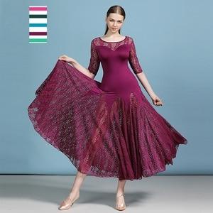 Image 1 - 安い社交ドレスラテンタンゴ衣装フラメンコドレスワルツ格安ダンス衣装フォックストロットダンスドレスドレス女性ダンスの摩耗のレース