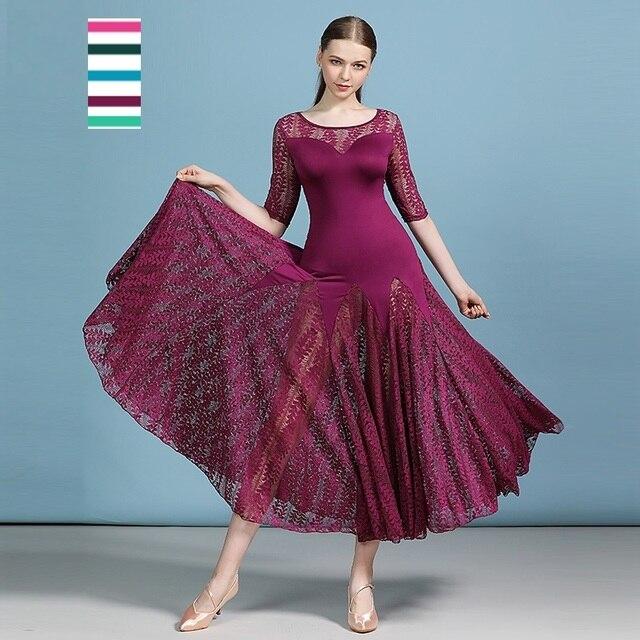 安い社交ドレスラテンタンゴ衣装フラメンコドレスワルツ格安ダンス衣装フォックストロットダンスドレスドレス女性ダンスの摩耗のレース