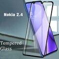 Закаленное стекло с полным покрытием для Nokia 2,4, Защитная пленка для экрана, Защитное стекло для Nokia 2,4