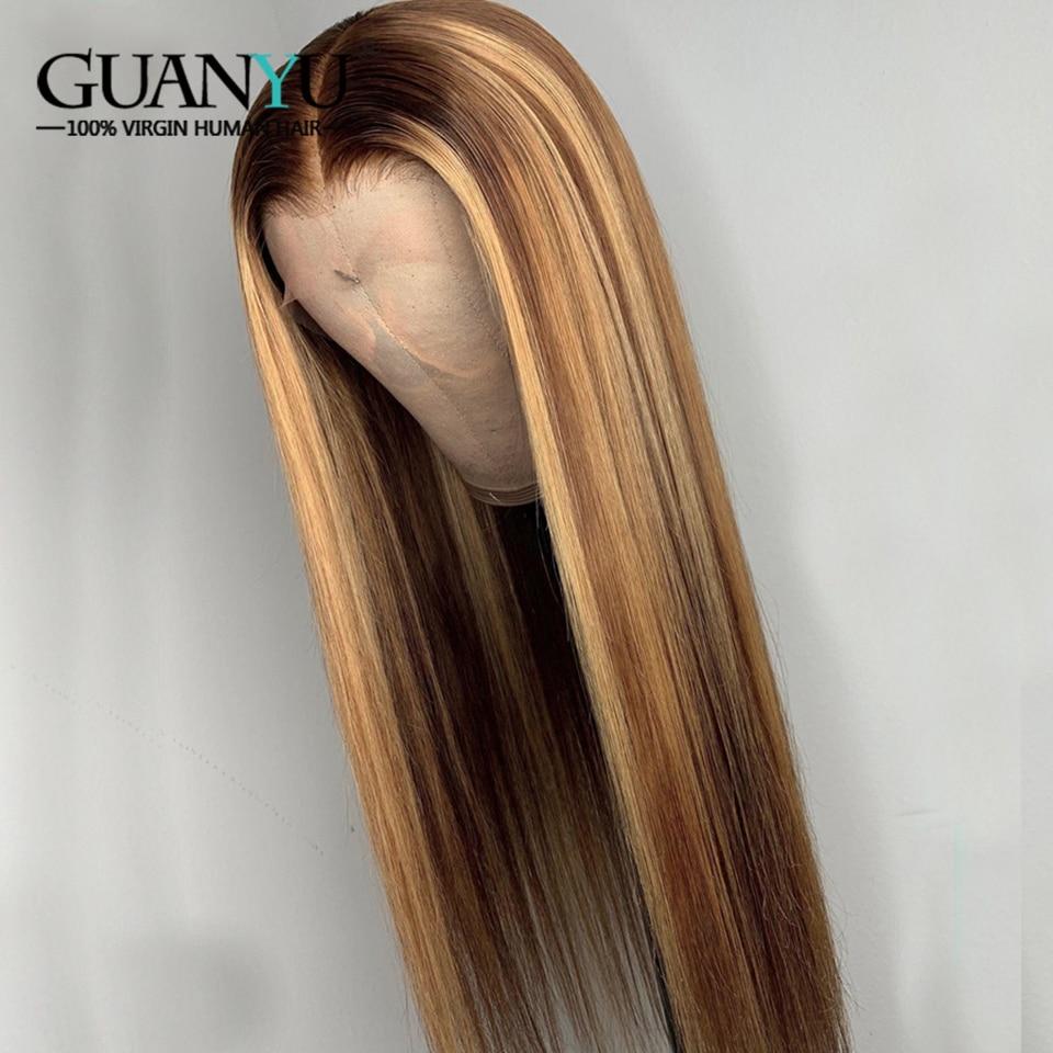 linha reta piano cor do cabelo peruca do laço descorados nós