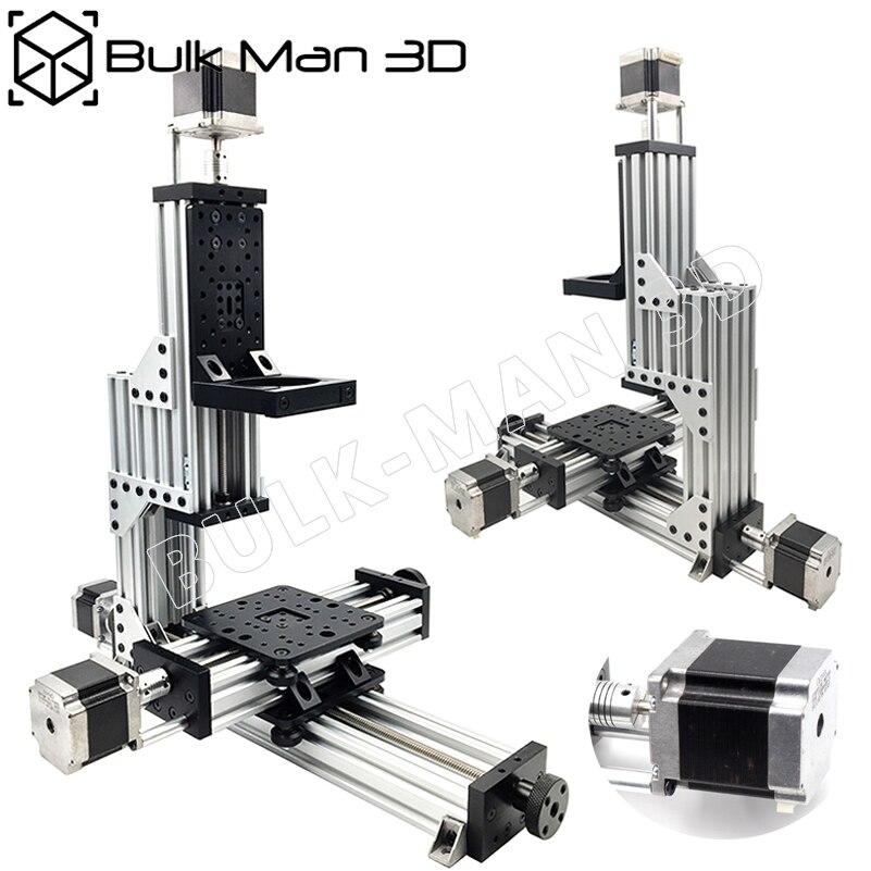 Free Shipping MiniMill CNC Machine Mechanical Kit 3 Axis Desktop MiniMill CNC Kit with 175 oz*in Nema 23 stepper motors3D Printer Parts & Accessories   -