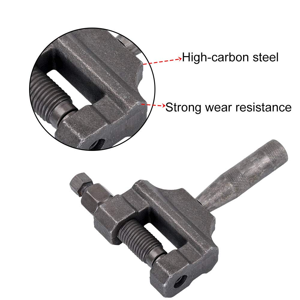 Chain Breaker Cut Link Remove Tool Heavy Duty Chains 420-530 Chain Rivet Tool Fit for Motorcycle Bike ATV Motorcycle Repair Tool