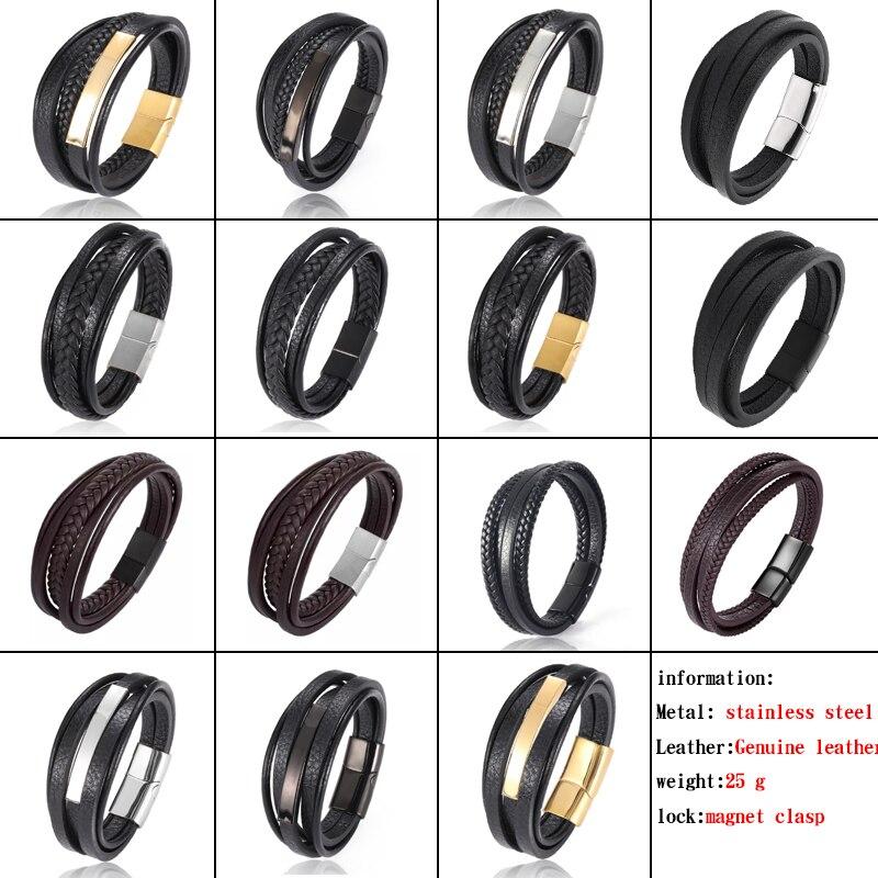 MingAo-Bracelets Chakra en acier inoxydable pour hommes, breloque Punk de Tennis, noir, bijoux de noël, Bracelets pour femme 6