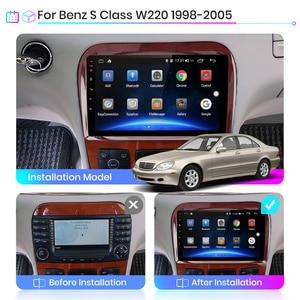 Image 2 - Junsun v1 4g + 64g android 9.0 dsp para mercedes benz s classe w220 s280 s320 s350 s400 s430 s500 s600 1998 2005 rádio do carro gps dvd