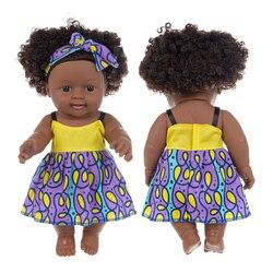 Черные Детские куклы 35 см, поп, зеленые, африканские! Reborn силиконовые viny 35 см новорожденный poupee boneca детские мягкие игрушки для девочек, для де...