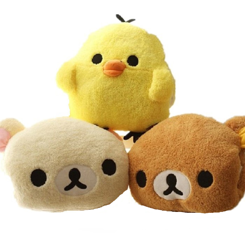 OLOEY Cute Rilakkuma Yello Chicken Plush Toys Stuffed Soft Cartoon Toy Warming Hands In Winter Gifts For Girls Christmas Gifts
