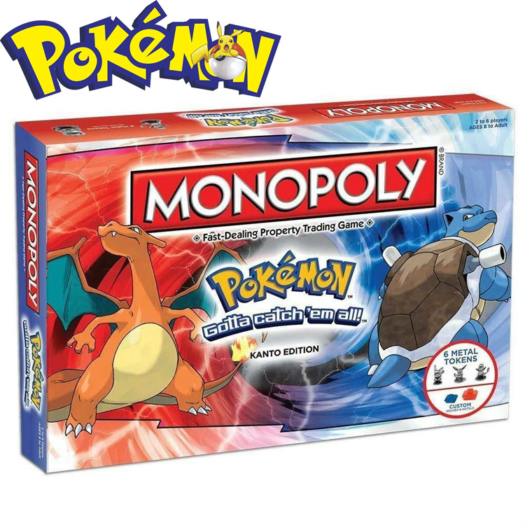 New Pokemon Monopoly All English Board Games Family Gathering The Most Interesting Christmas Gifts