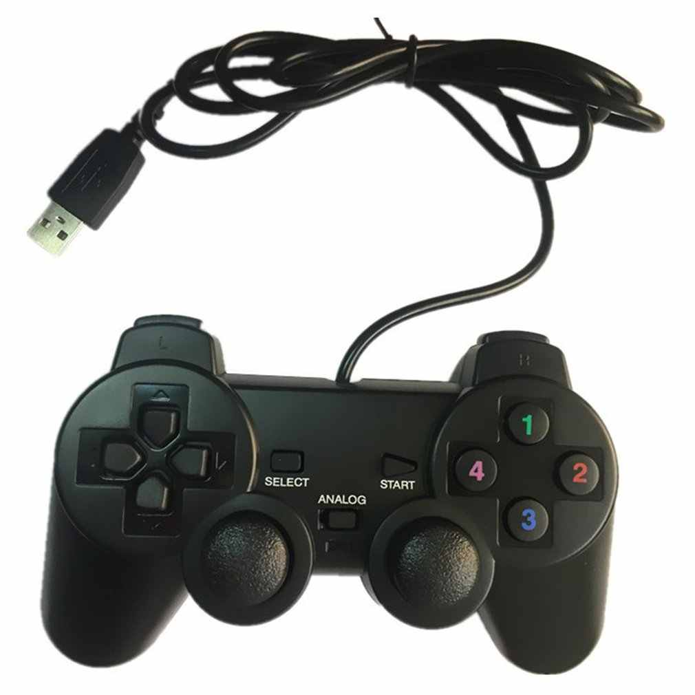 Kabel Gamepad Joystick USB2.0 Shock Joypad Gamepad Game Controller untuk PC Laptop Komputer Win7/8/10/XP /VISTA