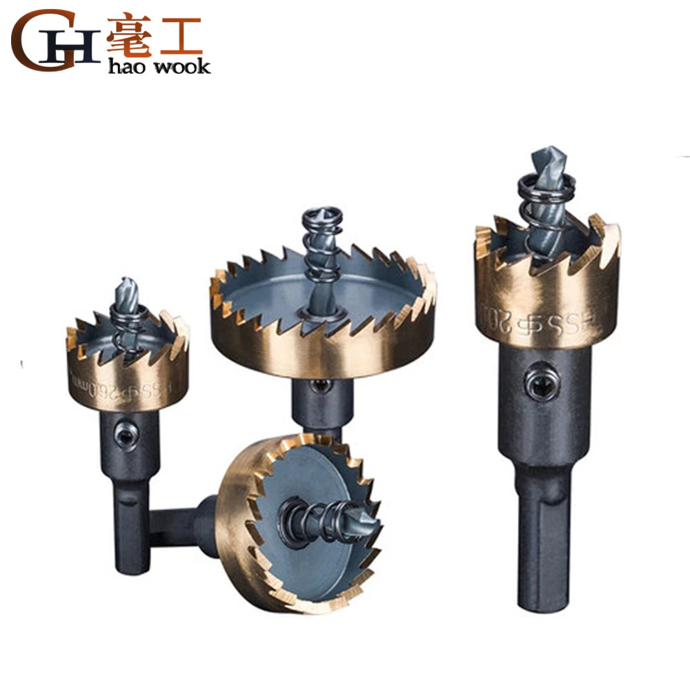 Drill Bit Set Holesaw Carbide Tip HSS Hole Saw Cutter Drilling Kit Hand Tool for Wood Stainless Steel Metal Alloy Cutting
