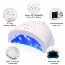 Azure Beauty Nail Dryer Fast Cure 48W Big Powder Led Nail Lamp Machine For Curing All UV Gel Nail Polish