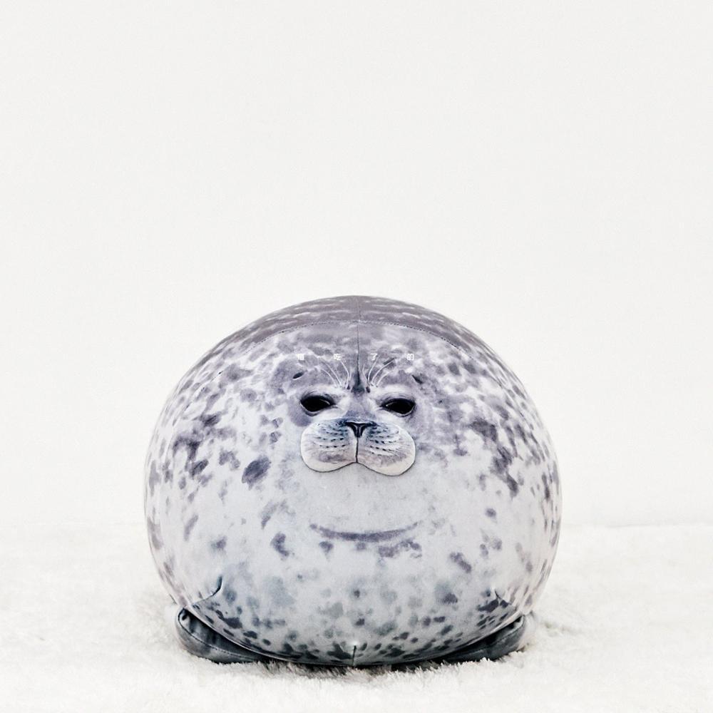 20-80cm Cute Sea Lion Plush Toys Soft Marine Animal Seal Stuffed Doll for Kids Gift Sleeping Pillow 3D Novelty Throw Pillows(China)
