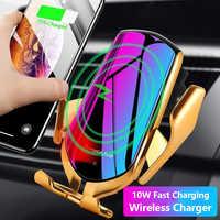Chargeur Sans Fil pour Samsung Note 10 9 8 S10 S9 Chargeur de voiture Sans Fil 10W à charge rapide pour iPhone 11 Xs Max X Chargeur Sans Fil
