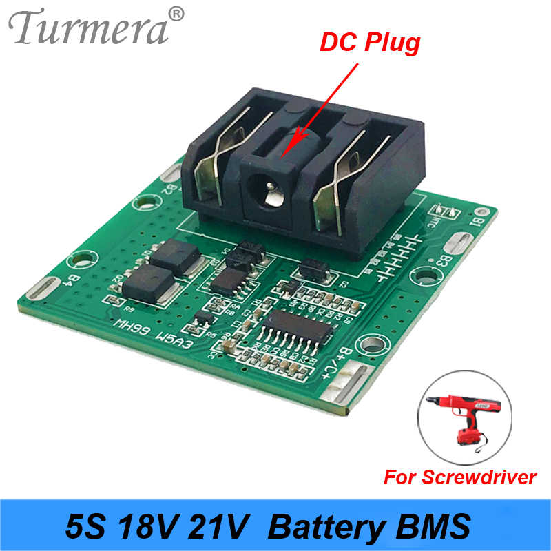 5S 18v 21v 20A Li-ion Lithium Battery BMS 18650 battery screwdriver shura Charger Protection Board fit Turmera NEW high quality