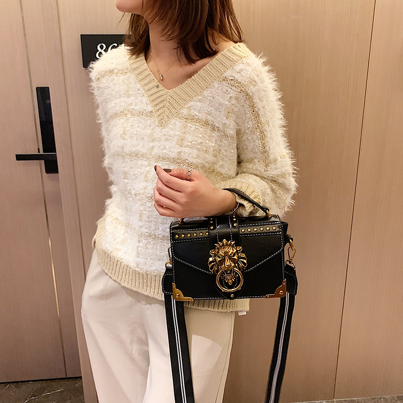 Hdbcd440ef237431882c62ca61122fb35e - Female Fashion Handbags Popular Girls Crossbody Bags Totes Woman Metal Lion Head  Shoulder Purse Mini Square Messenger Bag