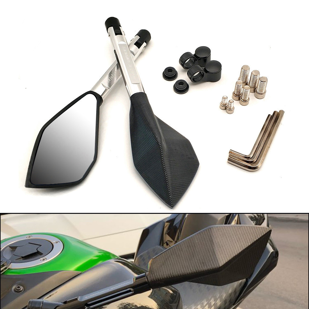 Universal Motorcycle Mirrors Aluminum View Rearview Side Mirror For Suzuki DRZ400SM DR250 DJEBEL <font><b>Yamaha</b></font> <font><b>XMAX</b></font> <font><b>125</b></font> 250 400 300 image