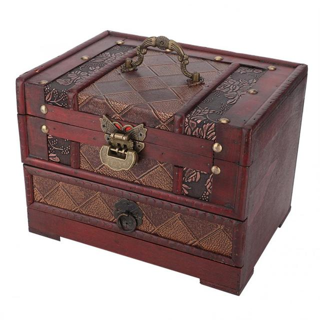 Multi Layer Jewelry Storage Box Dust proof Wooden Necklace Earrings Storage Container Box Jewelry Holder Decoration Organizer