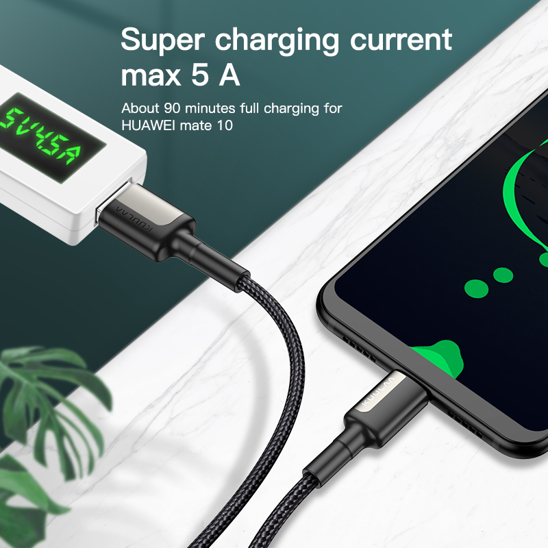 KUULAA 5A USB Type C Cable for Huawei Mate 20 Pro P20 Lite Supercharge USB C Fast Charging Cable Type-C Cable for Huawei P30 Pro 5
